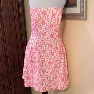 Lilly Pulitzer strapless crochet dress